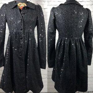 Betsey Johsnon Sequin Coat